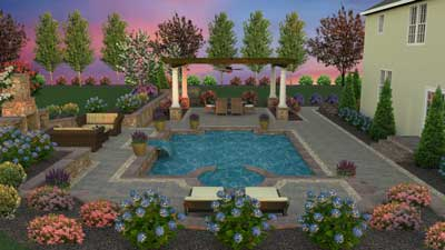 3D pool and patio design Boyerstown, PA