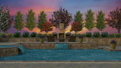 3D pool and patio design Chester Springs, PA