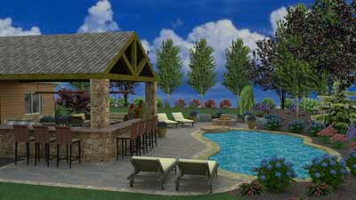 3D pool and patio design Collegeville, PA