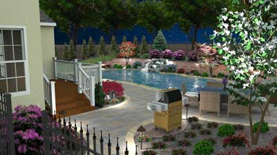 3D pool and patio design Gilbertsville, PA