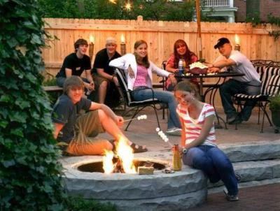 Fire pits gather family and friends together.