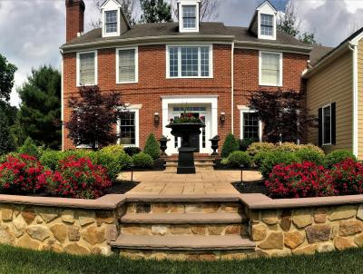 An example of a more formal landscape installed in Malvern, PA