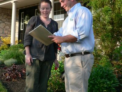 Consultation with landscaper