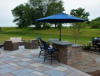Create different gathering spaces on your patio.
