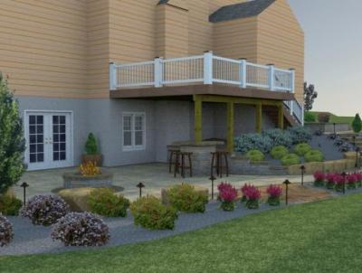 3-D Patio Design for Downingtown project