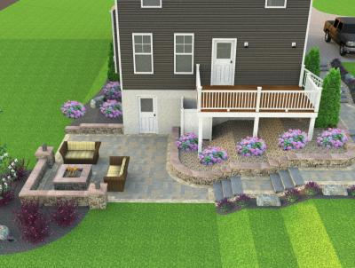 This 3D Design shows the homeowner just how their new patio will flow.