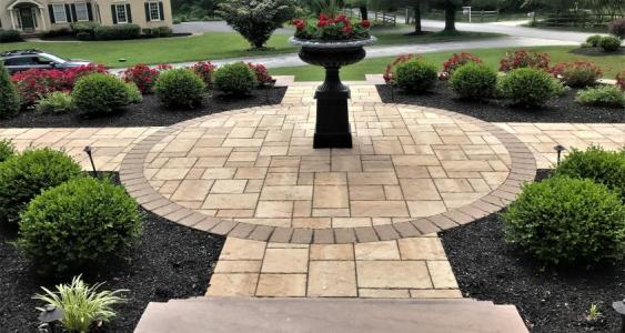 Front entrance paver project in Malvern, PA