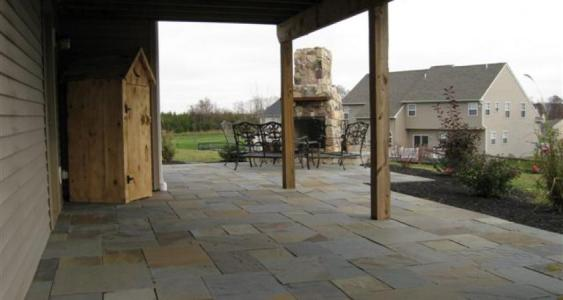 Flagstone patio in Gilbertsville, PA