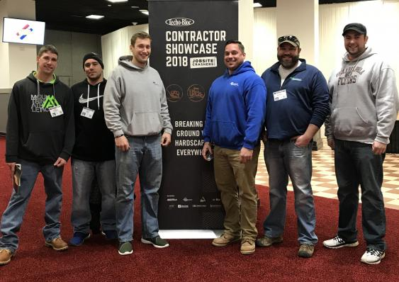 Whitehouse Landscaping attending a hardscaping contractor Techo-Bloc seminar.