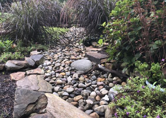 Dry Creek bed in Pottstown helps with erosion control.