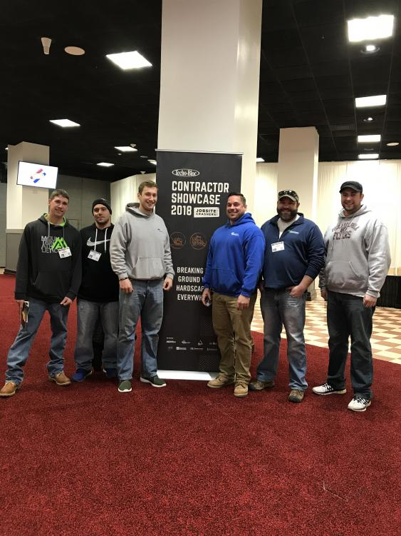 Our talented hardscaping crew attending a Techo-bloc seminar.
