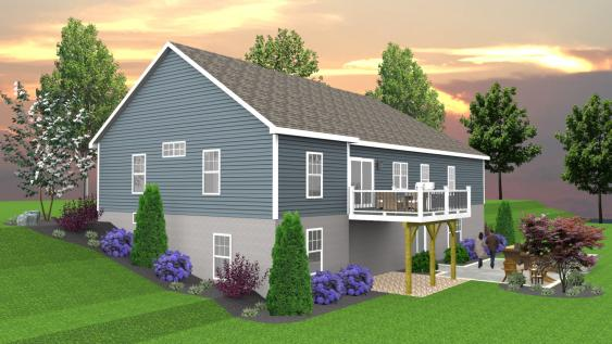 This is a 3D drawing that will help a homeowner understand their overall goal and scheduling their landscaping  in phases if they choose.