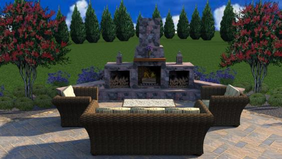 This 3-D design fire feature in Schwenksville gets a perfect 10 on the joy scale.