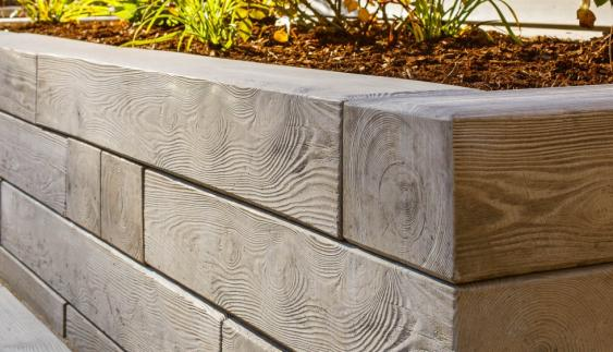Techo-Bloc Borealis line is a wood look-alike