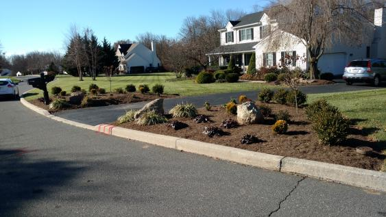 Fresh mulch can make a big difference in curb appeal.