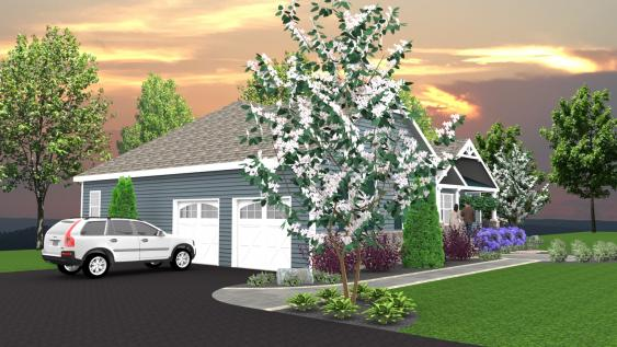 This 3D design of the front walkway and plantings confirms how welcoming the installation will be.