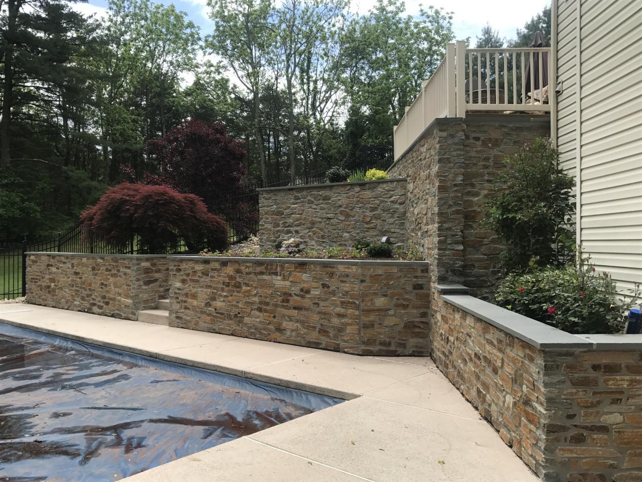 Stone Veneer Whitehouse Landscaping