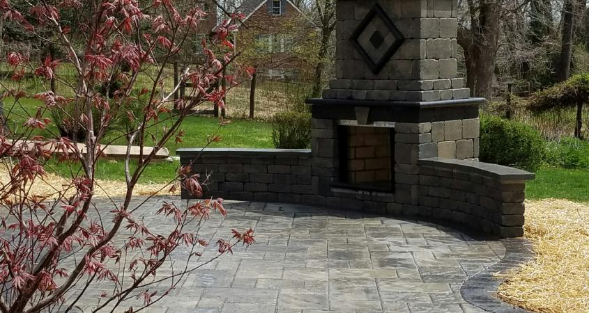 Stone fireplace in Phoenixville, PA