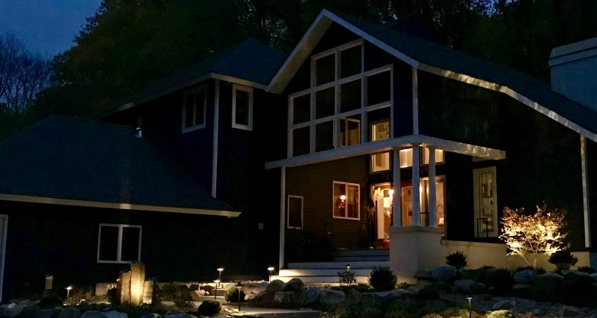Outdoor lighting on home in Spring City, PA