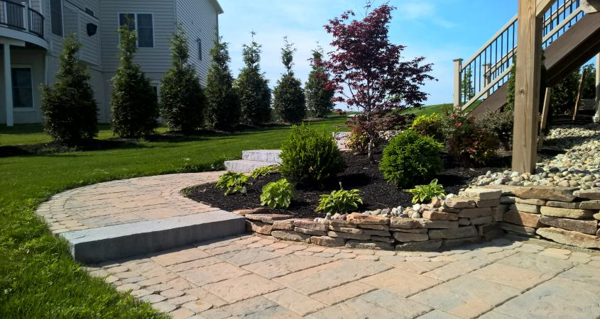 Landscaping with patio pavers in Phoenixville PA