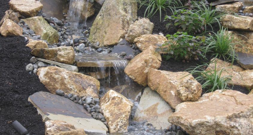 Stone waterfall in Malverm PA