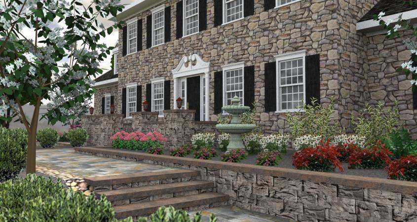3D landscape design Chester Springs, Pa
