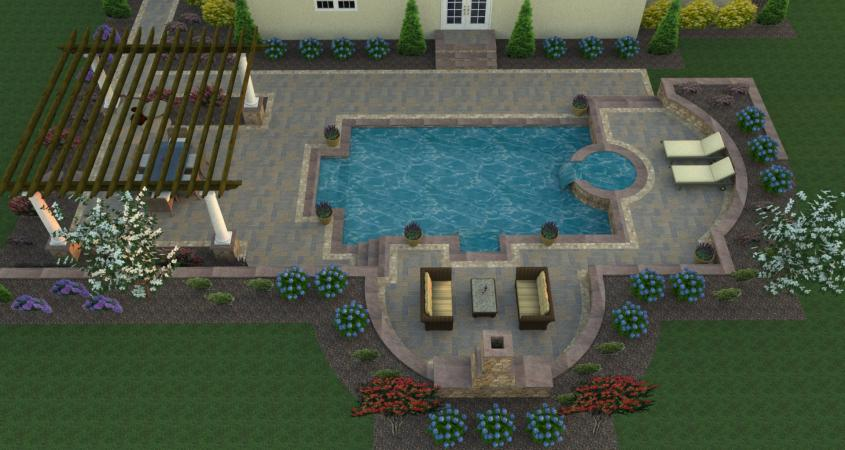 Custom 3D pool design.