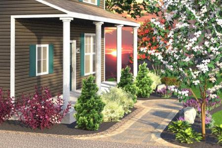 Front landscaping 3D design