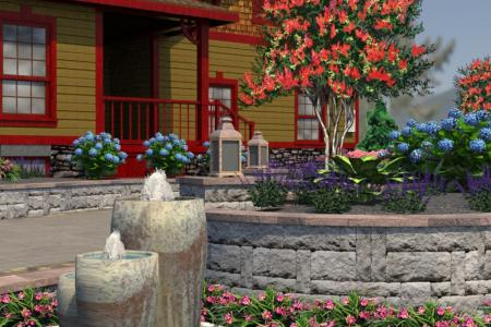 3D water feature design