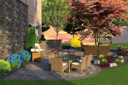 Bryn Mawr 3D patio design.
