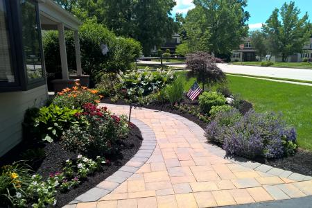 Landscaping with walkway in Plymouth Meeting, PA