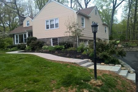 House with curved walkway in Wayne, PA