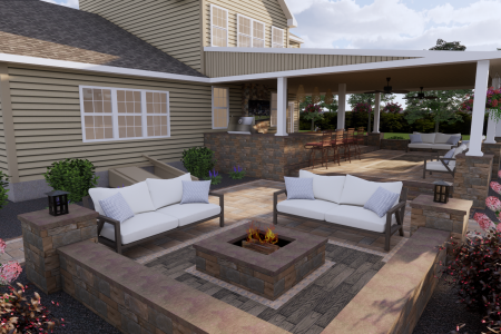 Pennsburg covered patio