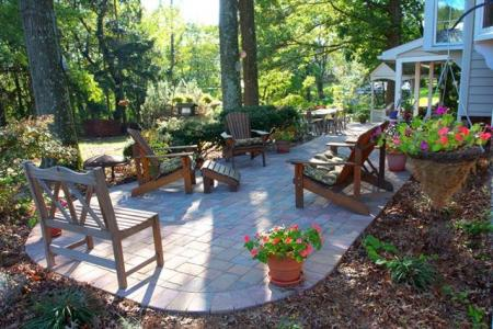 This Schwenksville, Pa family updated their backyard with a paver patio large enough to entertain family and friends.