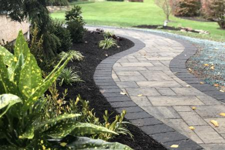 An inviting paver walkway in Phoenixville, Pa
