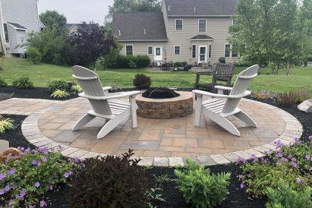Pottstown paver patio and fire pit