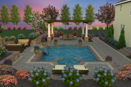 Backyard pool 3D design