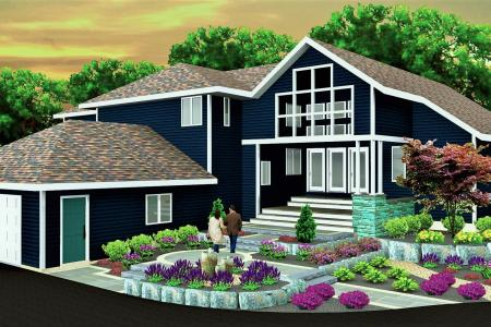 3D Landscape design front view in Spring City PA