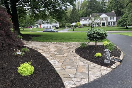 Paver walkway with 2 entrances in Wayne, PA
