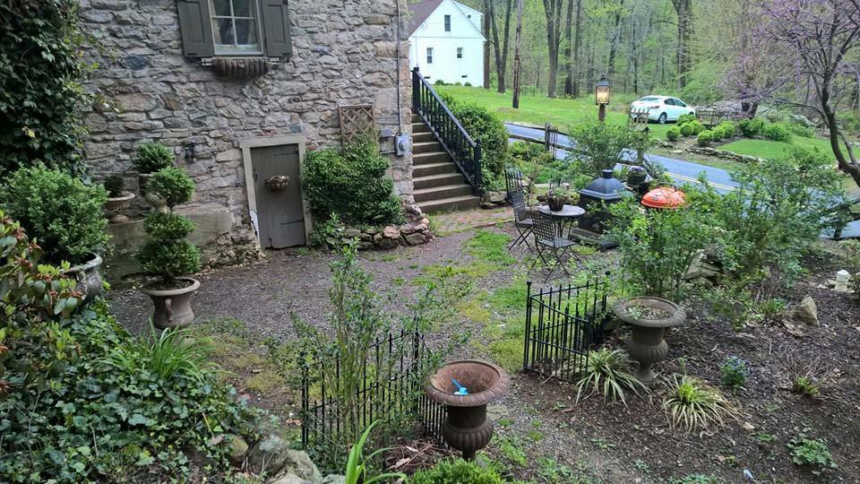 Before patio installation in Boyertown