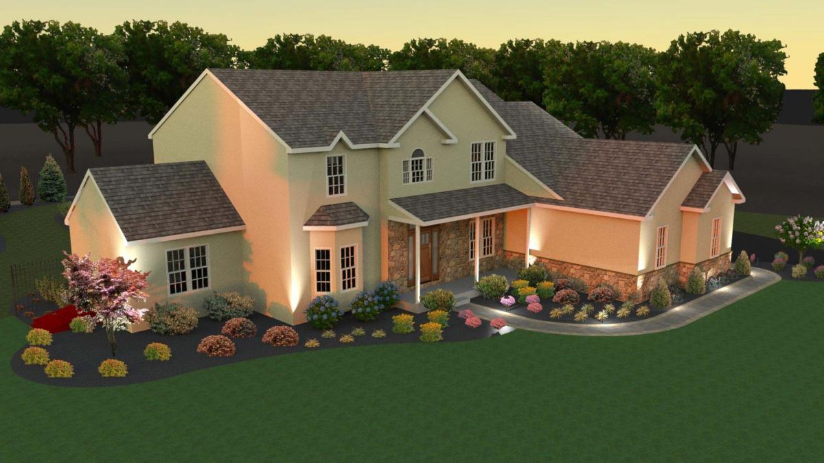 3D lighting design image for Glenmore, PA