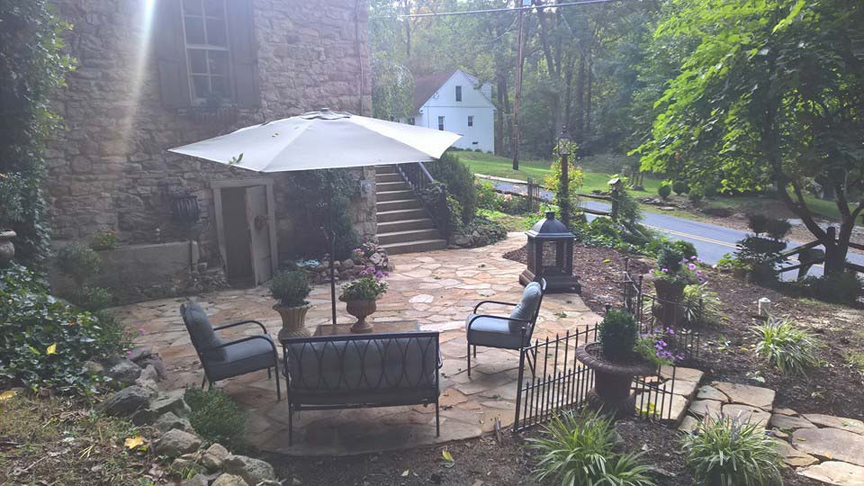 After flagstone patio installation in Boyertown, PA