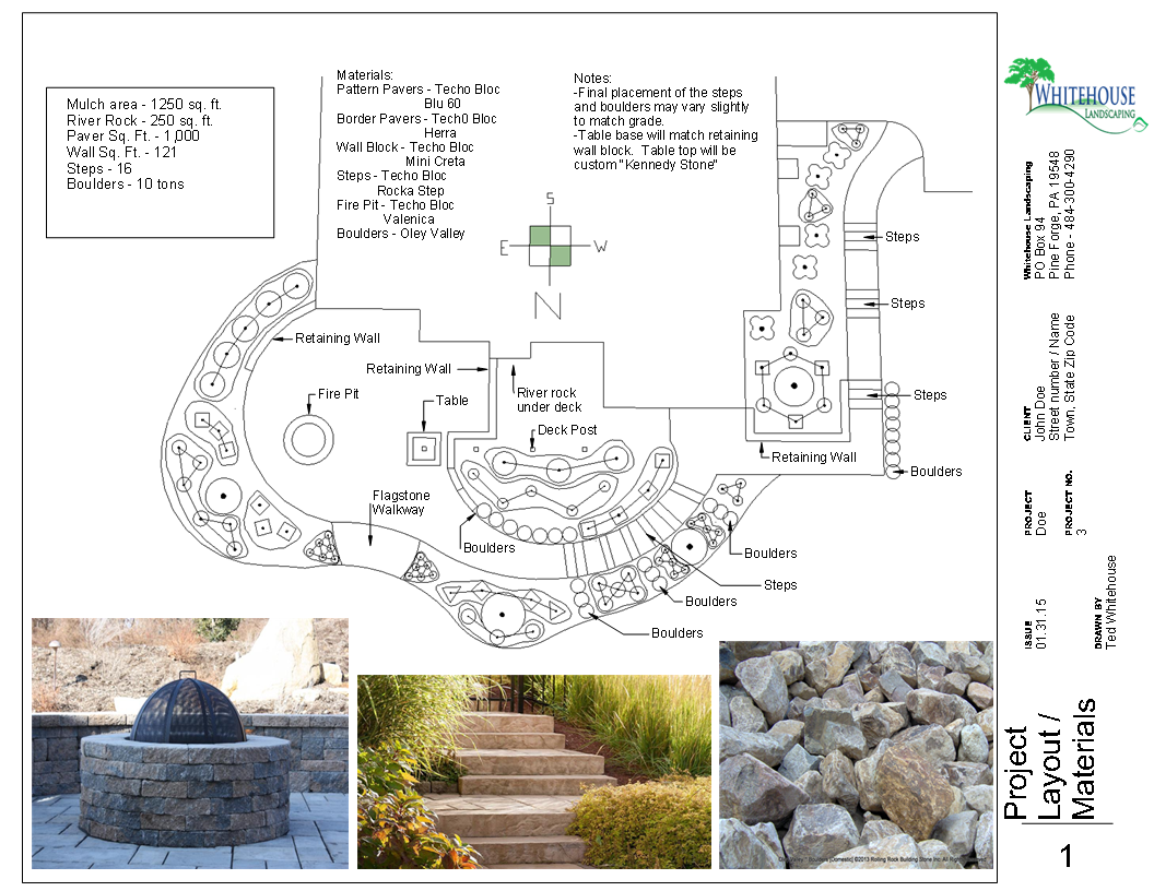 Landscape design options for Sample landscape plan