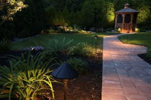 Outdoor Landscape Lighting in Montgomery County, Pa