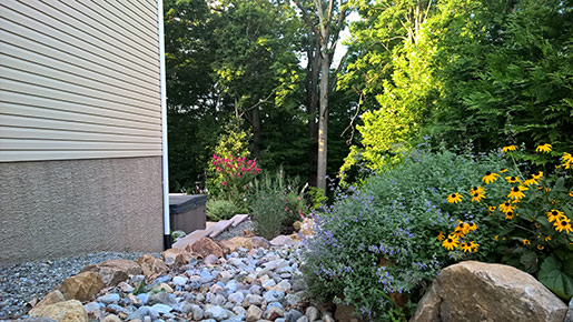 pottstown landscaping with shubbery