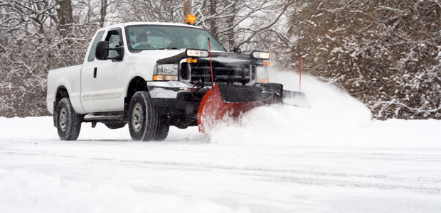 Snow removal truck in Gilbertsville, PA