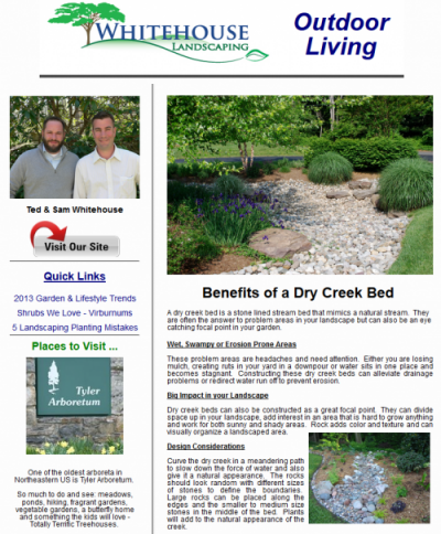 Outdoor Living e-Newsletter - Creative Ideas and more