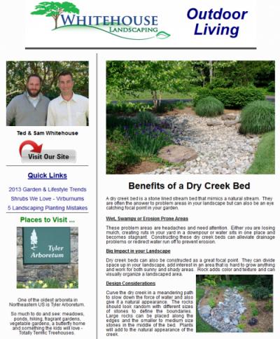 Outdoor Living E Newsletter Creative Ideaore
