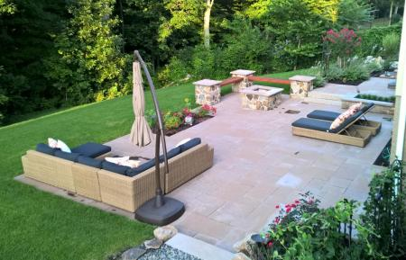 A beautiful, inviting outdoor living space